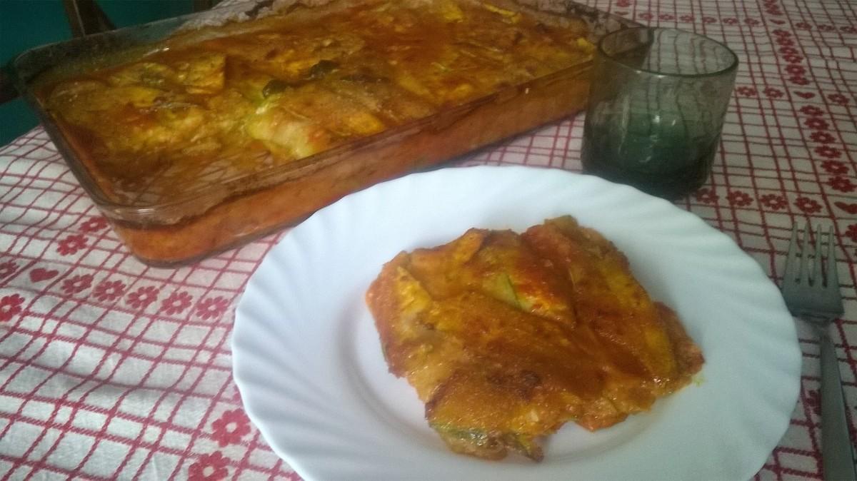Parmigiana veloce di zucchini a crudo