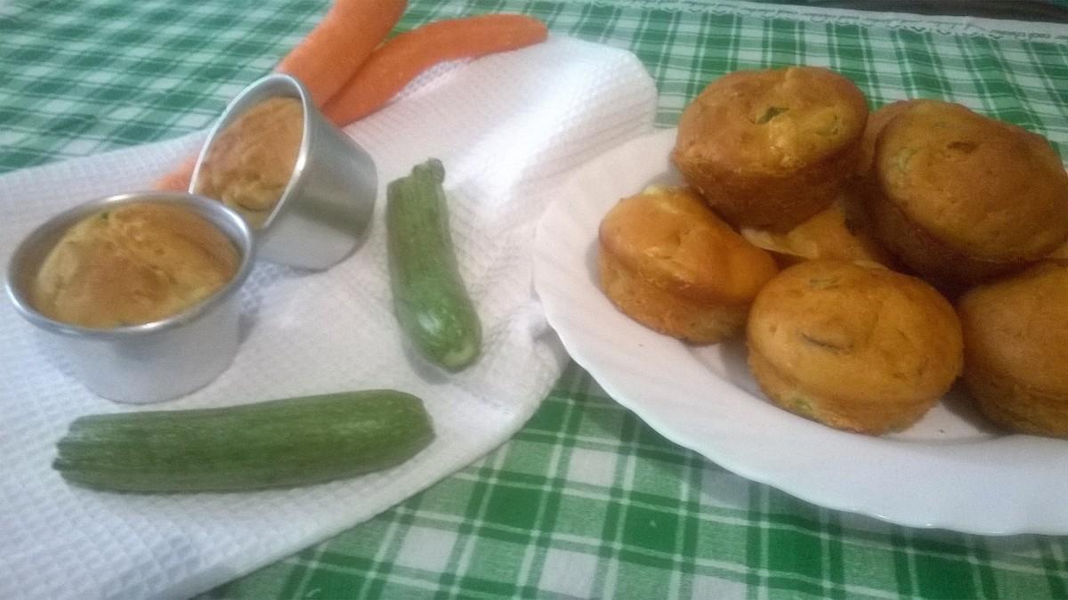 Muffin salati 7 vasetti con verdure e formaggio