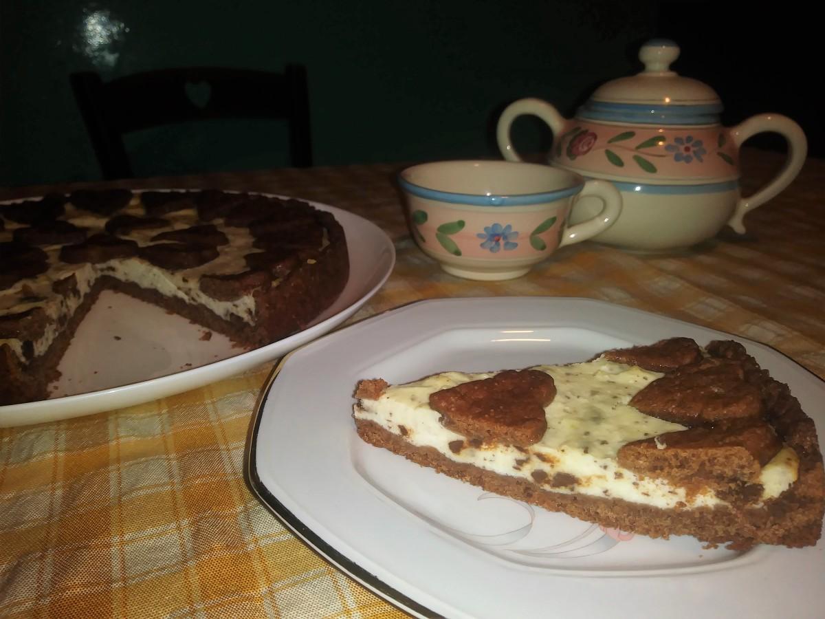 Crostata con ricotta, cioccolato al profumo di arancia