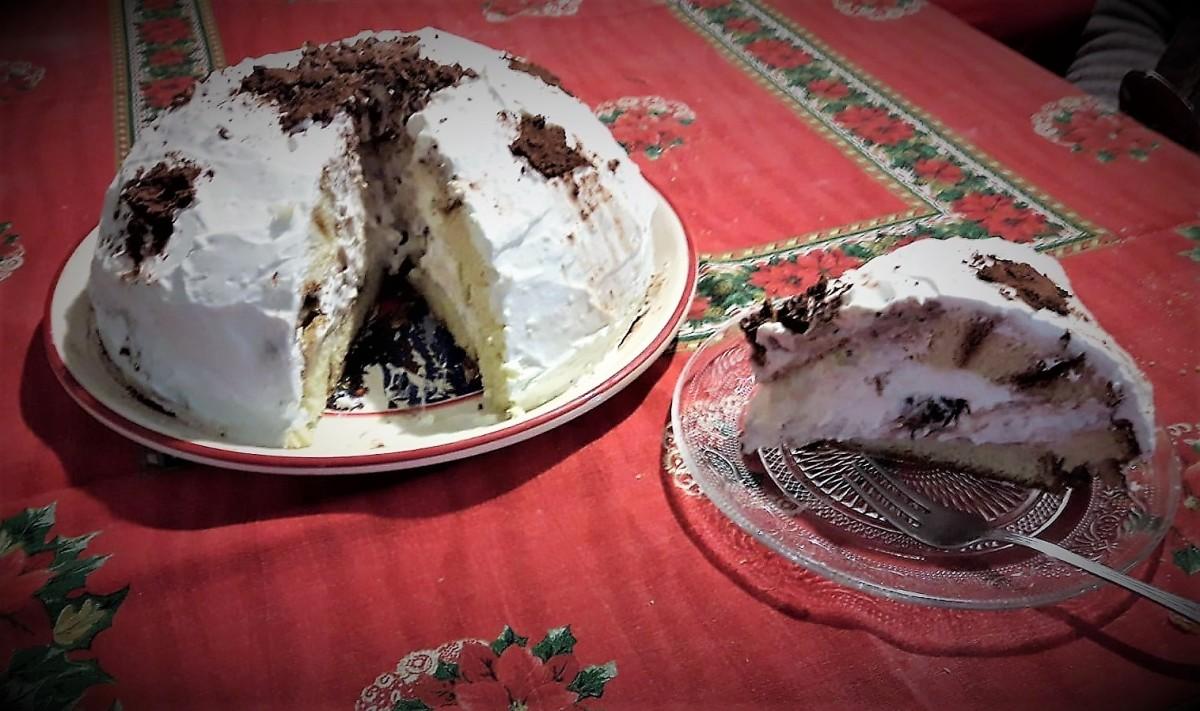 Zuccotto al Pandoro di Natale